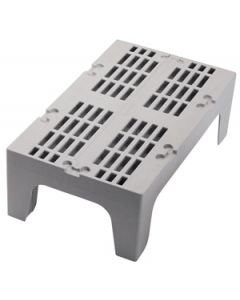 """Cambro DRS480480 48"""" x 21"""" x 12"""" Slotted Dunnage Rack, Speck Gray"""