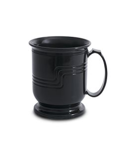 Cambro MDSM8110 Shoreline 8 oz Black Plastic Mug w/ Handle