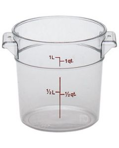 Cambro RFSCW1135 Camwear 1 qt Round Storage Container