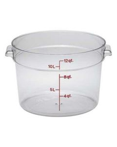 Cambro RFSCW12135 Camwear 12 qt Round Storage Container