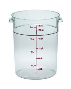 Cambro RFSCW22135 Camwear 22 qt Round Storage Container