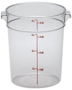 Cambro RFSCW4135 Camwear 4 qt Round Storage Container