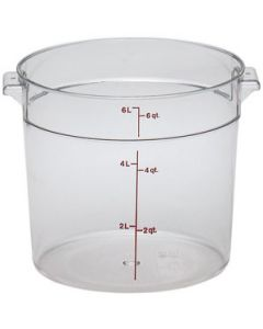 Cambro RFSCW6135 Camwear 6 qt Round Storage Container