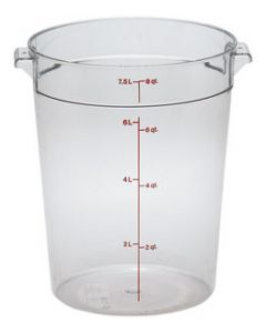 Cambro RFSCW8135 Camwear 8 qt Round Storage Container