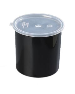 Carlisle 030403 Classic 4 Quart Black SAN Crock With Lid