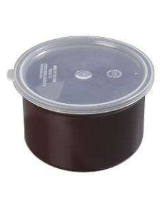 Carlisle 031601 Classic Brown Crock With Lid-1 1/2 Quart