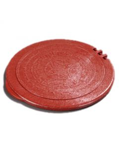 "Carlisle 070029 7"" Terra Cotta Tortilla Server Replacement Lid"