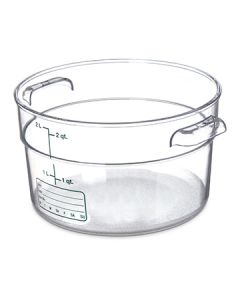 Carlisle 1076307 Storplus 2 Quart Clear Polycarbonate Round Container