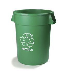 Carlisle 341032REC09 Bronco 32 Gal Green Recycle/Waste Container