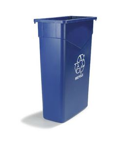 Carlisle 342023REC14 Trimline 23 Gal Blue Recycle Container