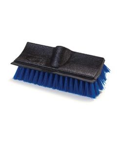 "Carlisle 3619014 10"" Blue Dual Surface Scrub Brush w/ Squeegee"