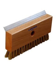 "Carlisle 4029100 8-1/2"" Oven Brush and Scraper w/Brass Wire Bristles"