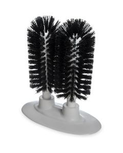"Carlisle 4046003 Sparta 8"" Black Twin Glass Washer Brush"