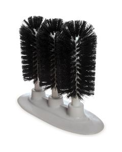 "Carlisle 4046103 Sparta 8"" Triple Glass Washer Brush Black"