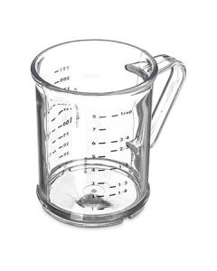 Carlisle 431507 1 Cup Clear Capacity Polycarbonate Measuring Cup