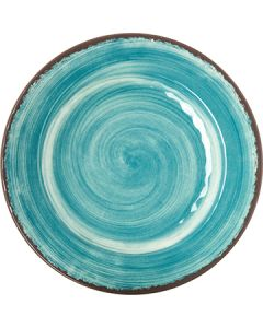 "Carlisle 5400115 Mingle 11"" Aqua Melamine Dinner Plate"