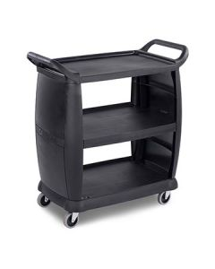 "Carlisle CC203603 Small Busing and Transport Cart - 18"" x 36.5"" x 38"""