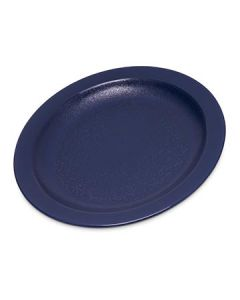 "Carlisle PCD20650 6 1/2"" Dark Blue Polycarbonate Narrow Rim Plate"