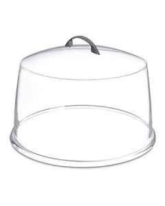 Carlisle SC3207 Clear Acrylic Cake Cover w/ Polished Chrome Handle