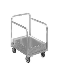 "Channel BPT-2 Aluminum Mobile Bun Pan Truck - 20.5"" x 27.5"""