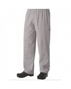 Chef Works NBCP000L Men's Basic Baggy Checkered Chef Pants - Large
