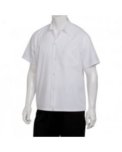 Chef Works SHYKWHTL White Utility Cook Shirt - Large