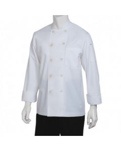 Chef Works WCCWWHTS Le Mans Basic White Chef Coat - Small