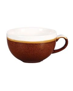 Churchill MOBRCB281 Monochrome Cinnamon Brown 12 oz Cappuccino Cup