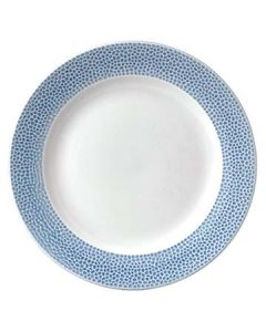 "Churchill OCISIF101 Isla Spinwash 10-1/4"" Ocean Blue Footed Plate"