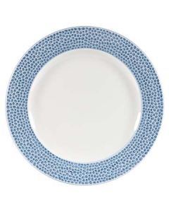 "Churchill OCISIF581 Isla Spinwash 10-7/8"" Ocean Blue Footed Plate"