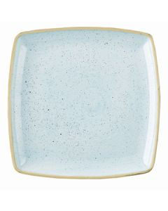 "Churchill SDESDS101 Stonecast 10-1/2"" Square Plate - Duck Egg Blue"