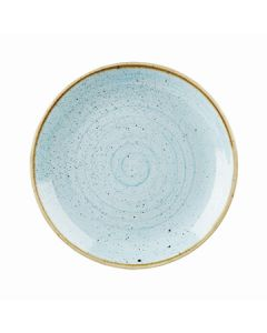 "Churchill SDESEV121 Stonecast 12-3/4"" Coupe Plate - Duck Egg Blue"