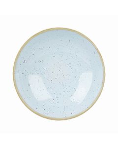 Churchill SDESEVB71 Stonecast 15 oz Round Coupe Bowl - Duck Egg Blue