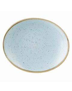 "Churchill SDESOP7 1 Stonecast 7-3/4""x6-1/4"" Oval Plate - Duck Egg Blue"