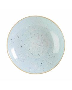 Churchill SDESPLC21 Stonecast 84-1/2 oz Coupe Bowl - Duck Egg Blue