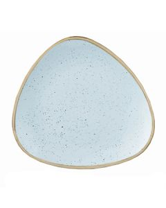 "Churchill SDESTR101 Stonecast 10-1/2"" Triangular Plate - Duck Egg Blue"