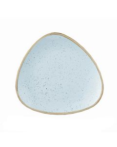 "Churchill SDESTR7 1 Stonecast 7-3/4"" Triangular Plate - Duck Egg Blue"