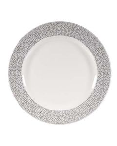 """Churchill SHISIF581 Isla Spinwash 10-7/8"""" Shale Gray Footed Plate"""