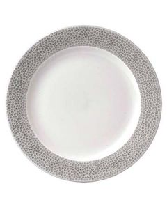 """Churchill SHISIF9 1 Isla Spinwash 9-1/8"""" Shale Gray Footed Plate"""