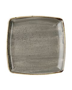 """Churchill SPGSDS101 Stonecast 10-1/2"""" Square Plate - Peppercorn Grey"""