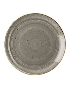 """Churchill SPGSEV121 Stonecast 12-3/4"""" Coupe Plate - Peppercorn Grey"""