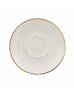 """Churchill SWHSCSS 1 Stonecast 6-1/4"""" Saucer - Barley White"""