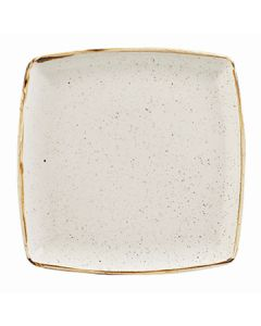 """Churchill SWHSDS101 Stonecast 10-1/2"""" Square Plate - Barley White"""