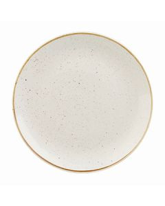 """Churchill SWHSEV101 Stonecast 10-1/4"""" Coupe Plate - Barley White"""