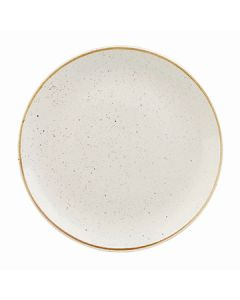 """Churchill SWHSEV111 Stonecast 11-1/4"""" Coupe Plate - Barley White"""