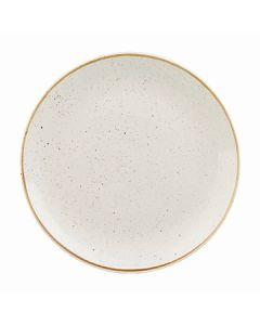 """Churchill SWHSEV121 Stonecast 12-3/4"""" Coupe Plate - Barley White"""