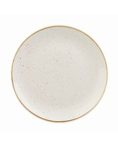 """Churchill SWHSEVP61 Stonecast 6-1/2"""" Coupe Plate - Barley White"""