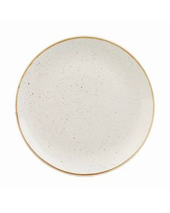 """Churchill SWHSEVP81 Stonecast 8-2/3"""" Coupe Plate - Barley White"""