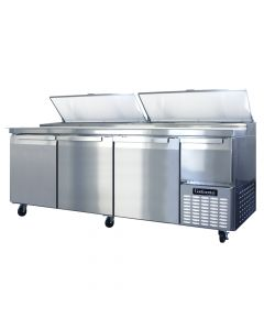 """Continental (CPA93) 93"""" Three-Section Pizza Prep Table"""