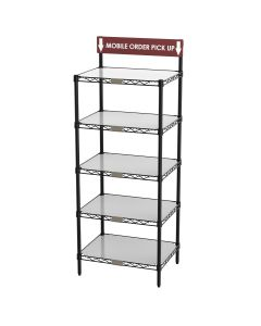 Metro CR1824TGSR To-Go And Order Pick-Up Wire Shelving Workstation With Sign 18X24